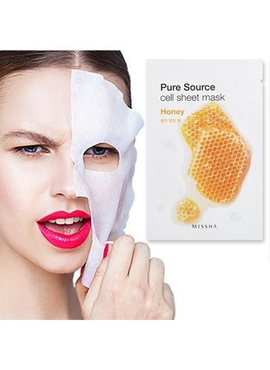 Missha Pure Source Cell Sheet Mask (Honey) Renksiz